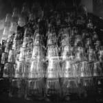 Entassement des verres
