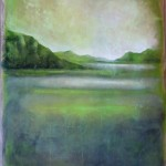 Paysage lagune vert